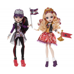 Набор кукол Эппл Уайт и Рэйвен Квин Школьный дух Ever After High Apple White & Ever After High Raven Queen School Spirit Dolls