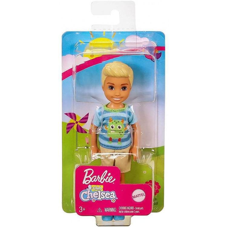 Лялька Барбі Хлопчик Челсі в футболці з монстром Barbie Club Chelsea Boy Doll, Blonde