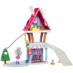 Игровой набор Лыжный домик с куклой Беви Кролик Enchantimals Hoppin' Ski Chalet with Bevy Bunny Doll