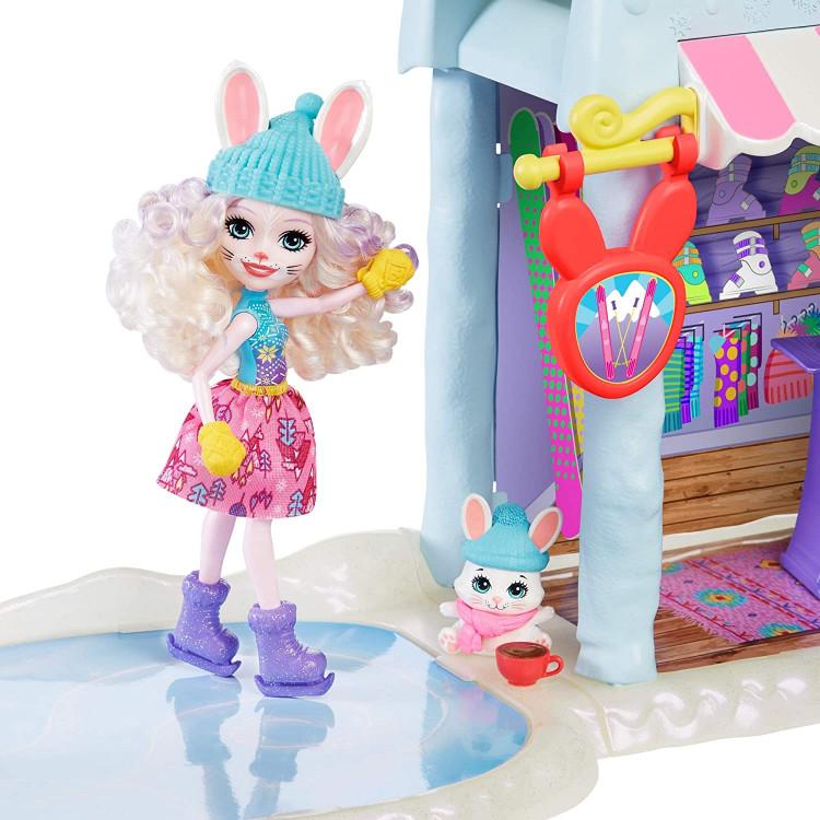 Ігровий набір Лижний будиночок з лялькою Беві Кролик Enchantimals Hoppin' Ski Chalet with Bevy Bunny Doll