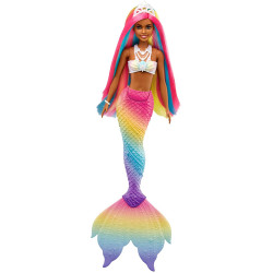 Уцінка !!! Лялька Барбі Дрімтопія Райдужна Чарівна Русалка Barbie Dreamtopia Rainbow Magic Mermaid Doll, Dark *