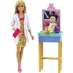 Кукла Барби Я могу быть Педиатр Barbie Careers You Can Be Anything Pediatrician Playset, Blonde Doll