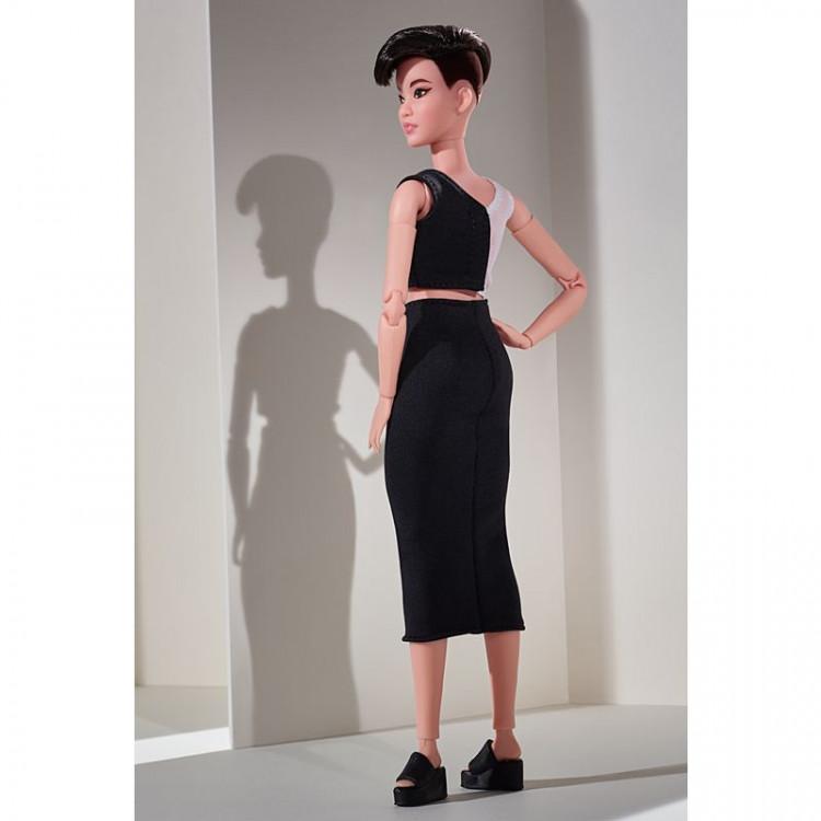 Кукла Барби коллекционная Миниатюрная короткие темные волосы Barbie Signature Looks Doll, Petite Brunette Pixie Cut #3