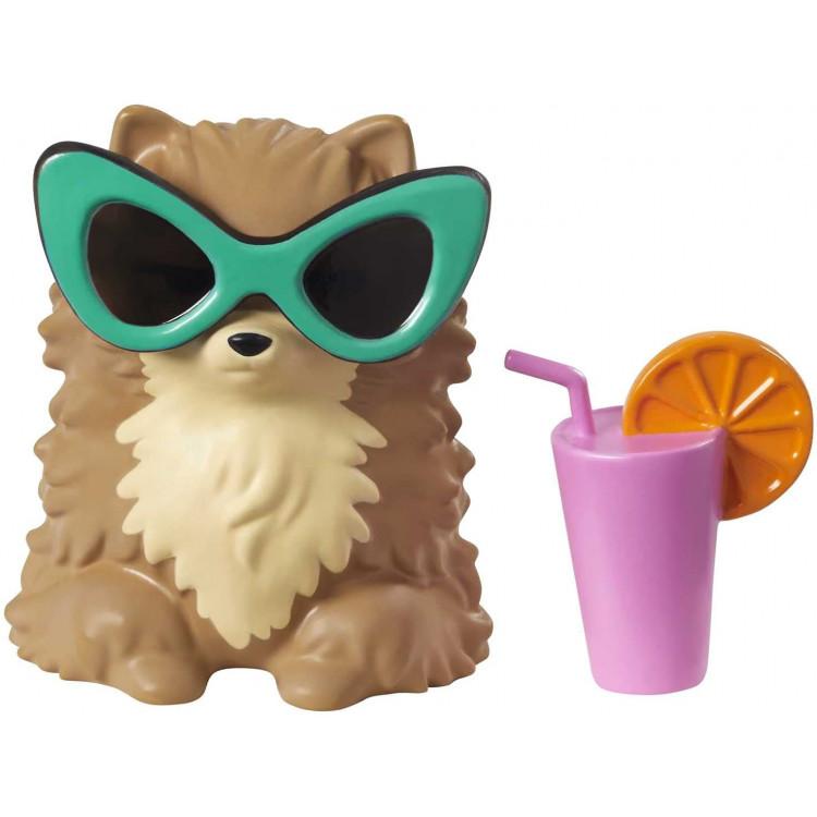 Лялька Барбі Екстра Модниця з пухнастою накидкою та довгими косичками Barbie Extra Doll #7 in Top, Shorts & Furry Shrug with Pet Pomeranian