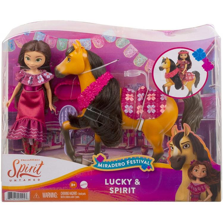Игровой набор с куклой Лаки и лошадкой Спирит Mattel Spirit Untamed Miradero Festival Lucky Doll