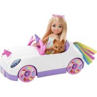 Кукла Барби Челси и автомобиль в стиле Единорога Barbie Club Chelsea Doll with Open-Top Rainbow Unicorn-Themed Car