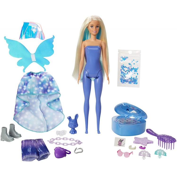 Лялька Барбі Сюрприз Кольорове перевтілення Фея Barbie Color Reveal Peel Fairy Fashion Doll Set with 25 Surprises