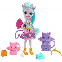 Игровой набор с куклой Семья Дианны Дракон Royal Enchantimals Family Toy Set, Deanna Dragon Doll