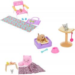 Набор аксессуаров для Барби с тремя игровыми наборами с домашними животными Barbie Accessory Pack Bundle with 3 Accessory Sets