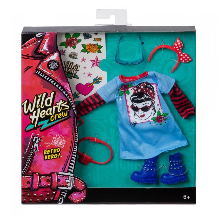 Одежда для куклы Команда Диких Сердец Wild Hearts Crew Retro Hero Fashions 8-Piece Accessory Set
