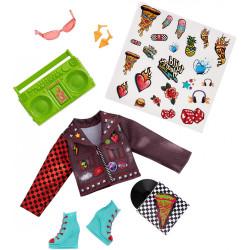 Одежда для куклы Команда Диких Сердец Wild Hearts Crew Punkie Pizza Party Fashions 8-Piece Accessory Set
