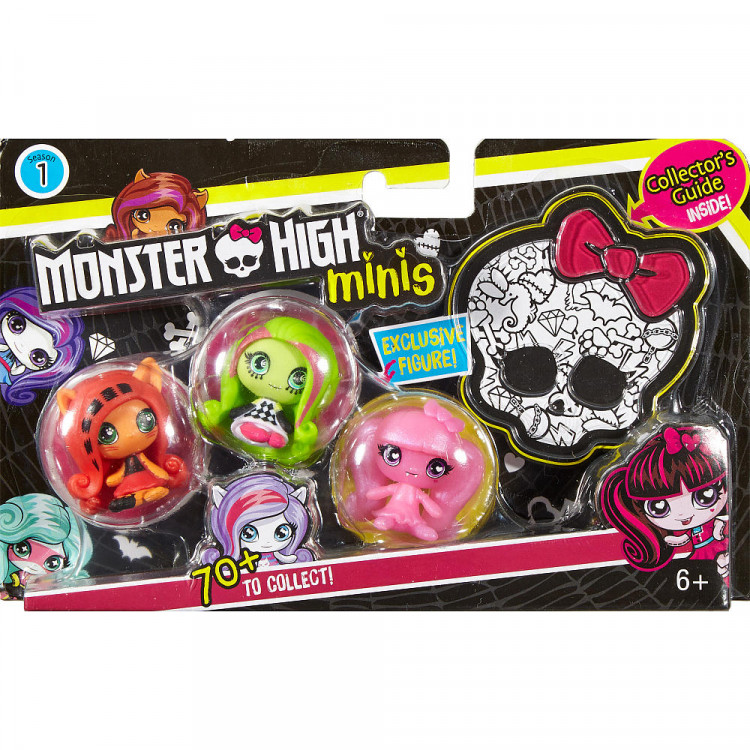 Набор минифигурок Дракулаура, Венера, Торалей Draculaura, Venus, Toralei Minis 3 Pack