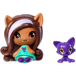 Мініфігурка Клодін Вульф з вихованцем Minis Clawdeen Wolf Doll & Crescent Pet