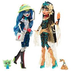Клео и Гулия Комик Кон в Сан Диего Cleo De Nile & Ghoulia Yelps 2-Pack Monster High SDCC 2017