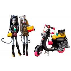 Набор кукол Мяулодия и Пурсефона на скутере Монстер Хай Meowlody & Purrsephone Wheelin Werecats 2 Pack Dolls Monster High